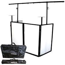 photo booth lighting novopro sdx v2 foldable dj booth workstation with lighting rig