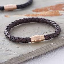 leather bracelet clasp images Men 39 s personalised rose gold clasp leather bracelet hurleyburley jpg