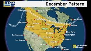 Eastern Canada Map by News Winter Preview See When Cold And Snow Arrive For You The