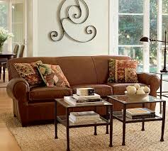leather sofa with nailheads manhattan leather sofa pottery barn