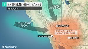 Phoenix Radar Map by Heat To Ease This Week Across West