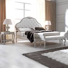 Italian Double Bed Designs Wood White Designer Ornate Italian Silk Button Upholstered Bed
