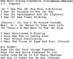 U Got It Bad Lyrics Country Music Bad Moon Rising Creedence Clearwater Revival Lyrics