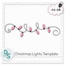 Christmas Light Template Delicious Scraps December 2010