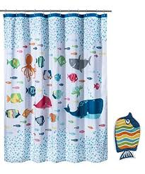 Fish Curtains Circo Fish Shower Curtain And Bath Rug Set New House S