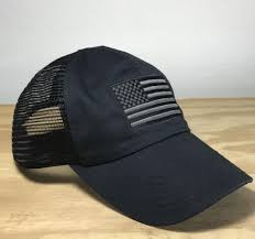 Blue White And Black Flag Tactical Mesh Back American Made Hat Red White Blue Apparel U2013 Red