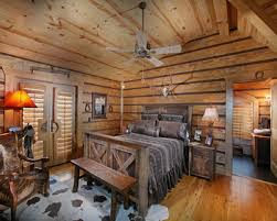 log home interior bedroom simple wood burning fireplace including chimney on