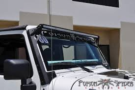 jeep jk light bar brackets poison spyder jk light bar mounts for 50 rigid led s jkowners com