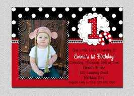 Free First Birthday Invitation Cards Ladybug Invitations 1st Birthday Iidaemilia Com