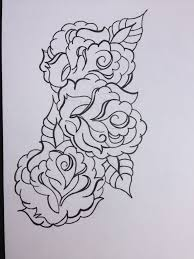 roses black outline tattoos design in 2017 real photo pictures