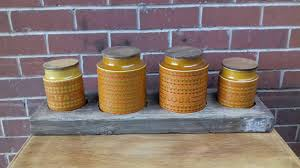 hornsea pottery herb planter garden retro vintage kitchen jars