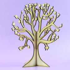 wishing tree beautiful lasercut wooden freestanding 3d large tree craft tree