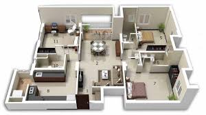 Two Bedroom Apartment Design Ideas New Ideas Three Bedroom Apartments Floor Plans With Best 25
