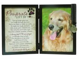 dog memorial pawprints memorial pet tag frame pawprints left by you