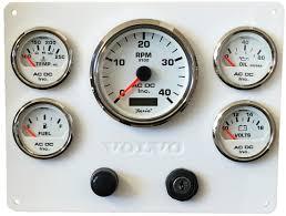 volvo inc white volvo engine panel white gauges 9 75 u2033 x 7 5 u2033 u2013 ac dc marine