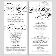 wedding ceremony programs wedding ceremony program template basic photoshot printable