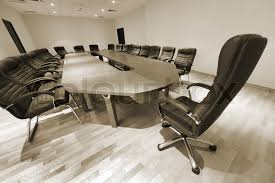 Modern Meeting Table A Large Table And Chairs In A Modern Conference Room Stock Photo