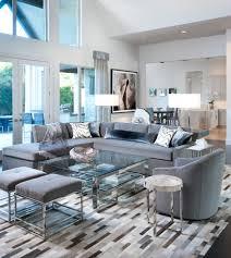 Contemporary Open Floor Plans Living Room Sectional Living Room Contemporary With Blue Sectional