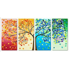 Colorful Tree Cross Stitch Kit Handmade Home DecorExport - Handmade home decoration