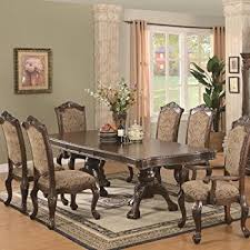 Cherry Dining Room Furniture Amazon Com 7pc Formal Dining Table U0026 Chairs Set With Claw Design