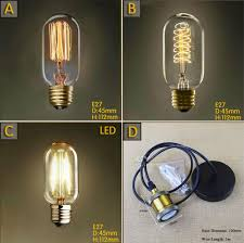 Led Lights Bulbs by T45 Vintage Squirrel Spiral 40w E27 Incandescent Edison Light Bulb
