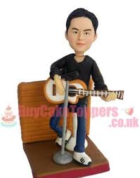 guitar man custom figurine custom cake toppers personalised