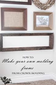 diy molding diy molding frame the wood grain cottage