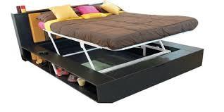 Godrej Bedroom Furniture Karbon King Bed With Mechanism In Cola Colour By Godrej