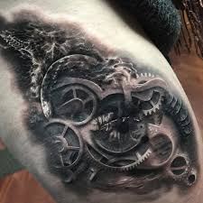eye with galaxy u0026 gears best tattoo design ideas