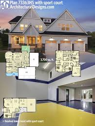 Sports court house plans House and home design