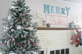 Christmas Decorations Blue And Red by Aqua And Red Christmas Home Tour Lovely Etc