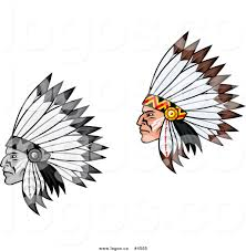 royalty free colored and black and white native american headdress