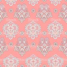 ornamental motifs of the indian fabric patterns stock vector