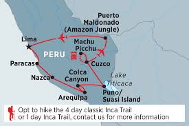 Machu Picchu Map Peru Highlights Overview Peru Highlights En Us