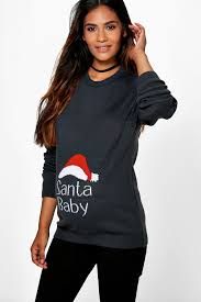 Cold Weather Maternity Clothes Maternity Esme Santa Baby Christmas Jumper Christmas Clothes