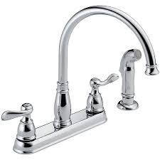 100 single handle kitchen faucet with side spray moen