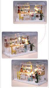 Dolls House Furniture Diy Aliexpress Com Buy Dream Kitchen Wooden Doll House Miniature Diy