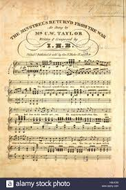 sheet cover image of the song minstrel s return from the