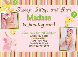 Invitation Card For 1st Birthday Sweet Silly And Fun Free Printable 1st Birthday Invitations With