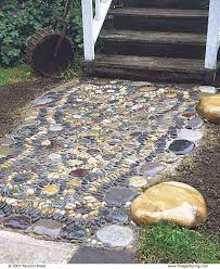 How To Build A Stone Patio by Create A Pebble Mosaic Fine Gardening