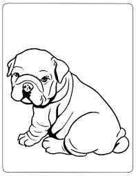 5 coloriages de bouledogue anglais à imprimer coloriage one