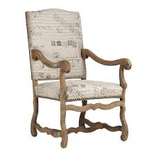Wooden Arm Chairs French Script Wood Arm Chair