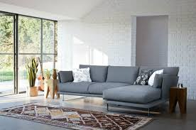 furniture l shaped grey corner modern couches with floral pillows