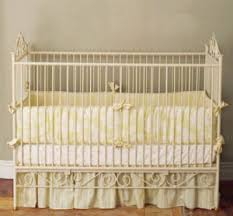 White Nursery Bedding Sets Yellow Toile Baby Nursery Bedding Set In An Antique White Crib