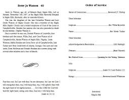 funeral help program best photos of template of funeral program free sle funeral