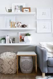 Living Room Shelves by Best 25 White Floating Shelves Ideas On Pinterest Farm Style