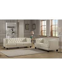 White Tufted Leather Sofa by Don U0027t Miss This Bargain Elle Tufted Premium Cream Top Grain