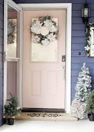 Wohnzimmerschrank Zu Verschenken K N Tolle Idee Zu Haustür Dekorieren Rosa Anstrich Und Türkranz Aus
