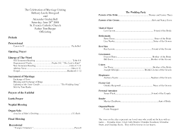 Wedding Programs Sample Church Program Template Cyberuse