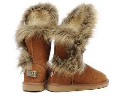 womens ugg boots fox fur ugg 5531 fox fur high low top chestnut womens